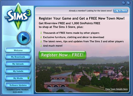 sims3 testing page