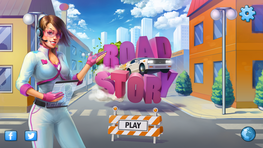 Road Story start screen