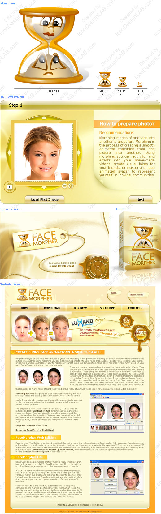 Software Identity Design for Face Morpher