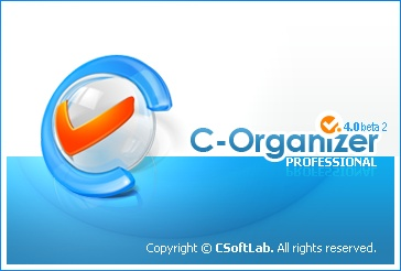 Splash screen design for С-Organizer