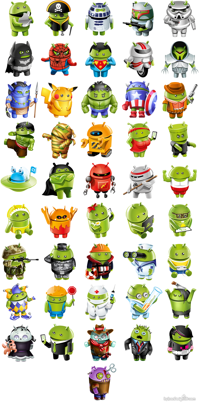 Avatar design in android style