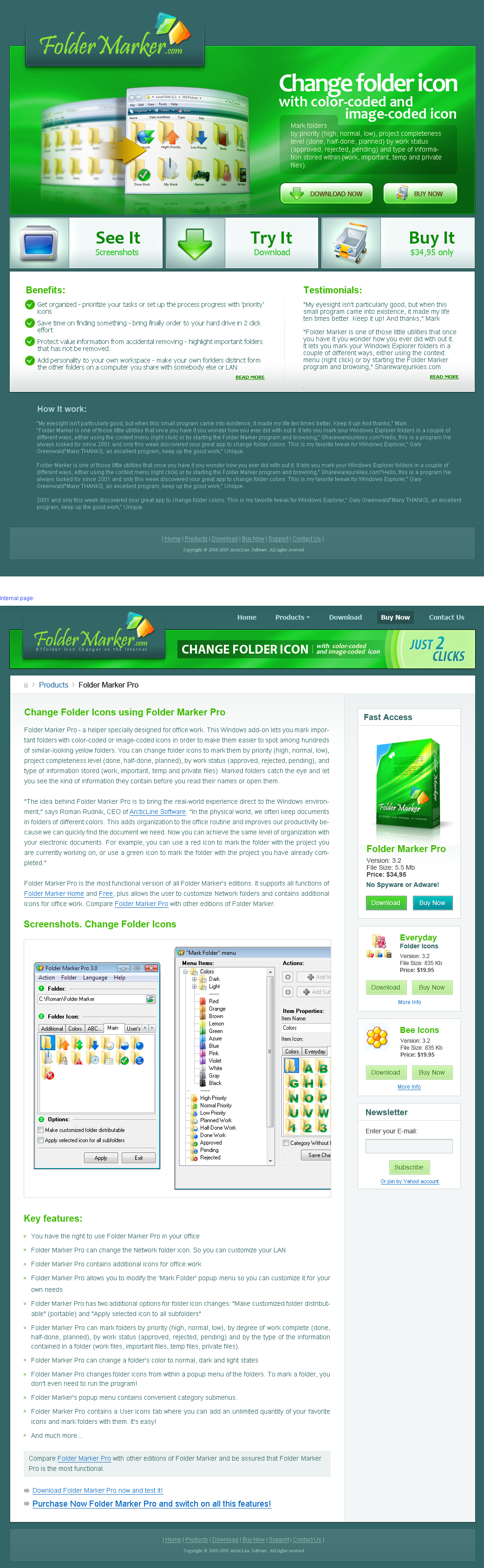 Folder Marker Website Design