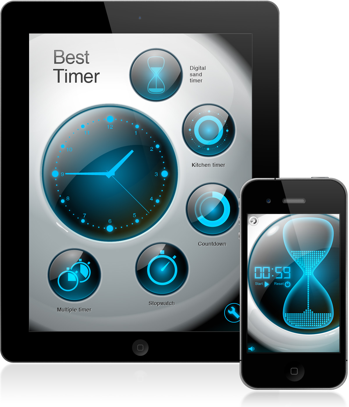 UI design for iPhone/iPad app Best Timer