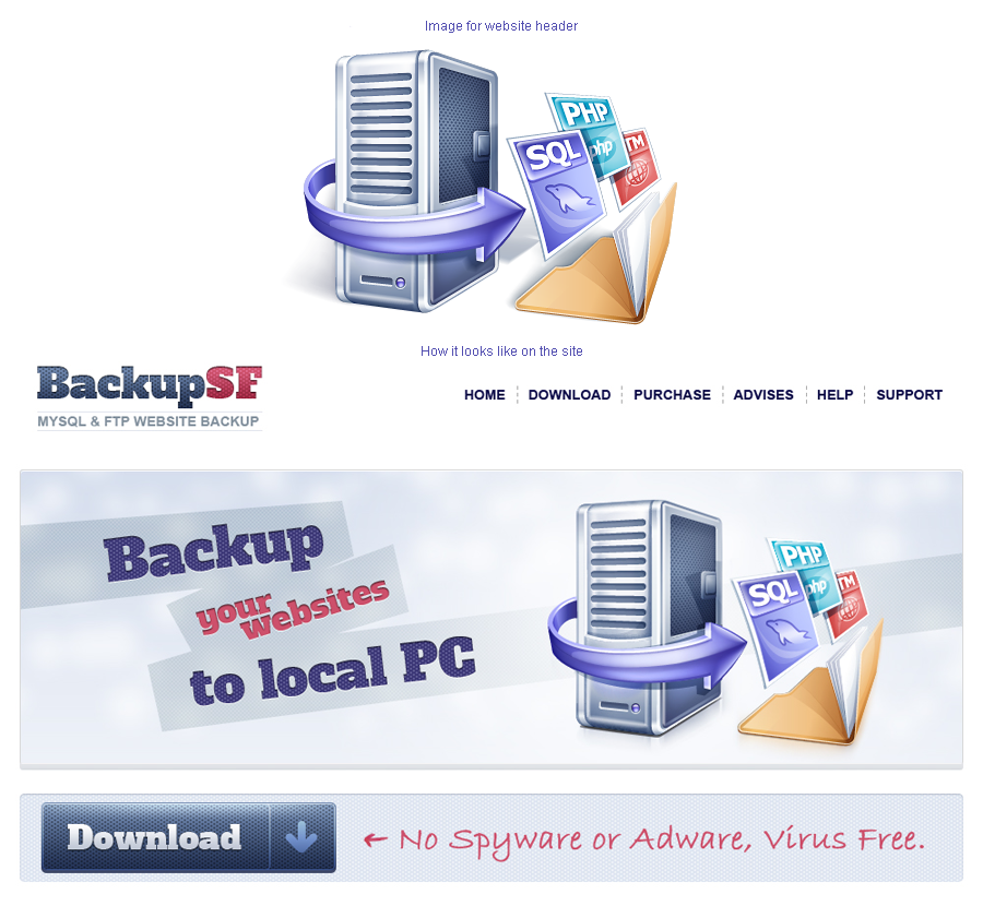 Header Image Design for BackupSF
