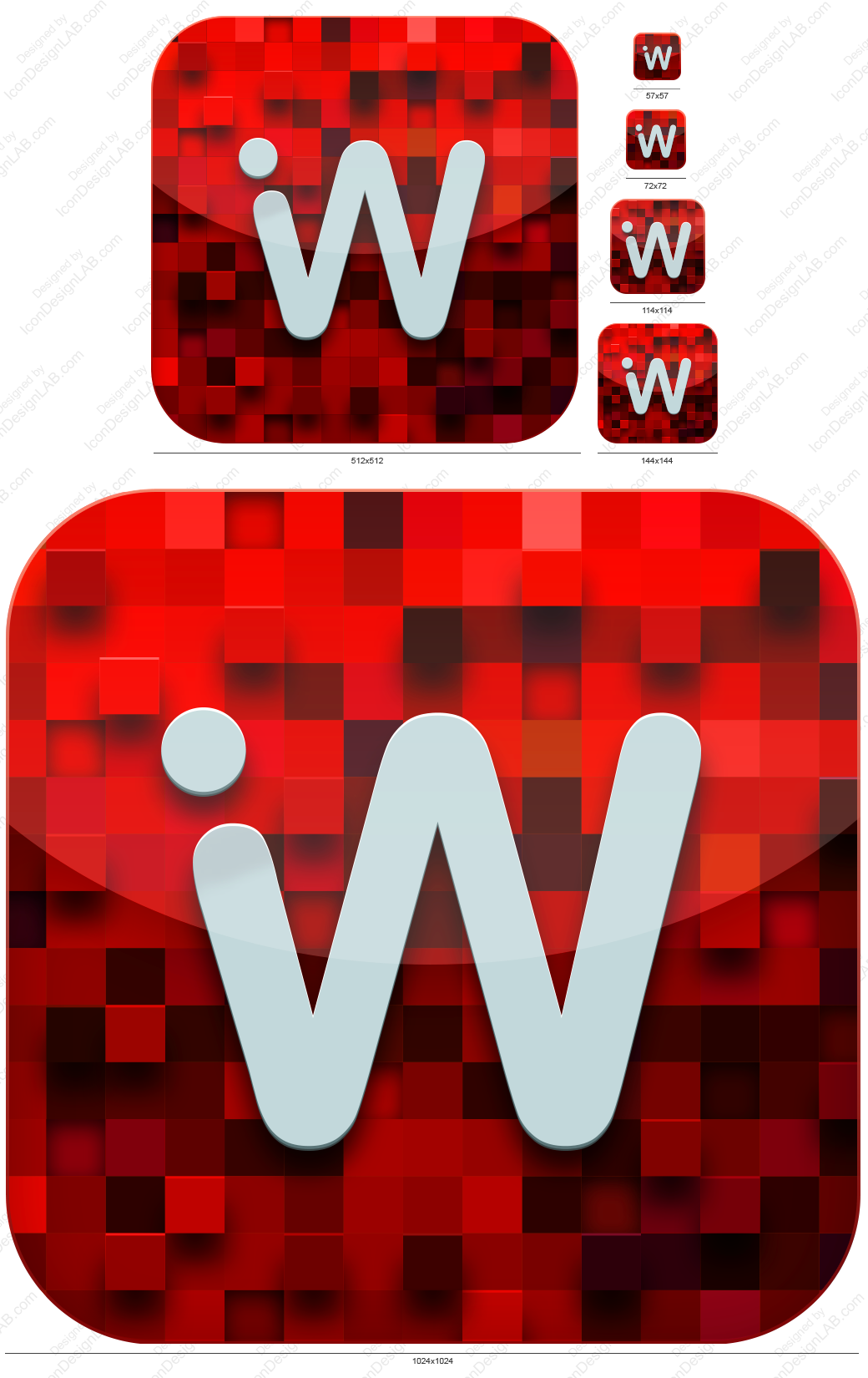 iOS Application Icon for iWebStudio