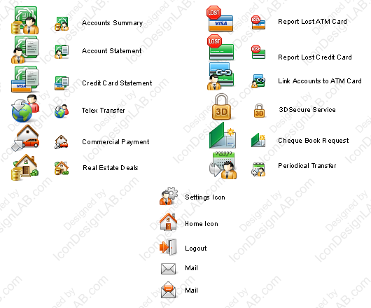 Toolbar iconset for KFH Online
