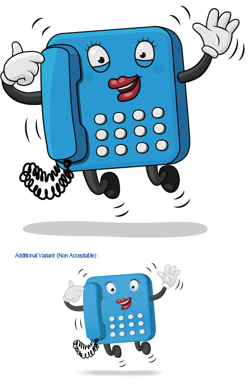 Character for TelephoneMessagePad.com