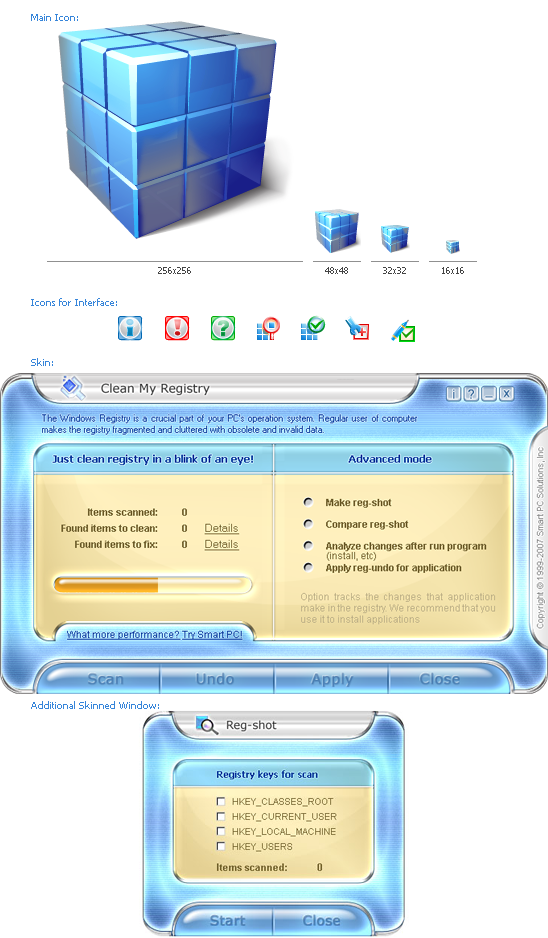 Software Identity design for Clean My Registry