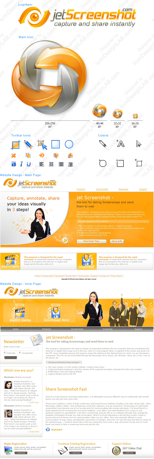 Software Identity Design for Jet Screenshot