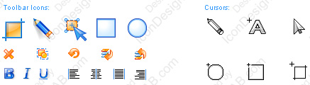 Toolbar icon design and cursors for Jet Screenshot