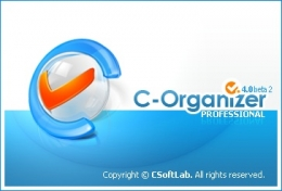 Splash screen design for -Organizer