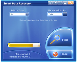 GUI Design for Smart Data Recovery