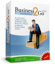 Set of boxshots for different editions of Business2Go
