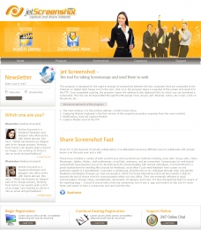 Website Design for Jet Screenshot: Inner page