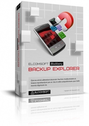 Boxshot Design for Elcomsoft Blackberry Backup Explorer