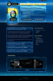 FanVista Audio Converter Website Design