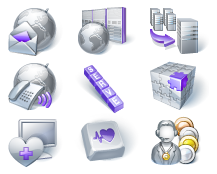 Small Website icons for Purplelattice.com