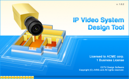 Splash Screen for IP Video System Design Tool