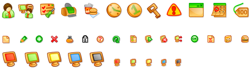 Set of icons for TrueCafe