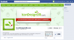 Facebook Page Design for IconDesignLAB