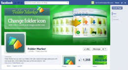 Facebook Page design for Folder Marker