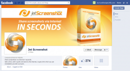 Facebook Page Design for Jet Screenshot