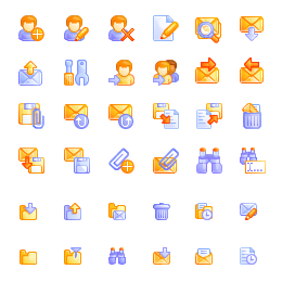 Interface icons for Reach-a-Mail